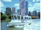 61 - Ferry on Brisbane River with Riverside Centre under construction in background