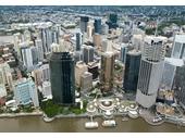 121 - Brisbane CBD from the air