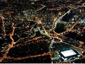131 - Brisbane CBD and Suncorp Stadium at night from above