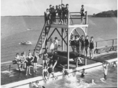 63 - Kids enjoying the Manly Public Baths in 1936