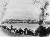 30 - Looking towards the then newly completed Indooroopilly train bridge in 1875