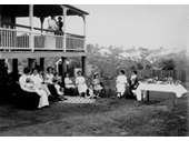 33 - A family enjoying a home picnic in Indooroopilly in 1917