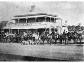 73 - Ready for a hunt at the Royal Mail Hotel, Goodna in 1892
