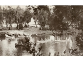 77 - Canoers on the Brisbane River near Colleges Crossing around the 1940's