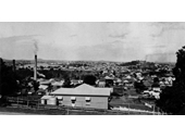 112 - Looking from Albion towards Bowen Hills around 1915 with James Campbell & Son's Pottery on the left