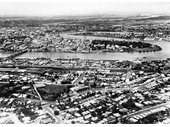 12 - An aerial view of South Brisbane around the 1940's