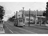 154 - Tram on Brunswick St passing intersection with Barker St