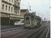 43 - A tram on Logan Street just before the Gabba Fiveways in the 1960's