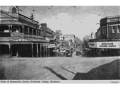 73 - The Valley (Cnr St Paul's Terrace and Brunswick St) in 1910