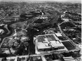 95 - Bowen Hills from the air in the 1960's with Queensland Newspapers in the foreground and Mayne train depot behind it