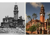 9 - South Brisbane Town Hall nearing completion in 1891 (Today a part of Somerville School)