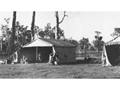 120 - A family camped at the Nudgee Waterholes in 1937