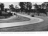 137 - The tramline at Samford Road, Newmarket around the 1930's