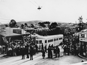 140 - Opening day for the tram extension to Enoggera in 1949