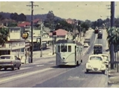 142 - Tram on Samford Road at the main Enoggera junction in the 1960's