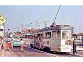143 - Tram on Samford Road at the main Enoggera junction in the 1960's