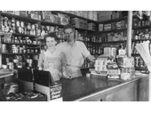 144 - An early photo inside a Grovely grocery store