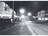 68 - Looking south at night along Lutwyche Road, Lutwyche in 1954