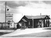 7 - P.C.Fegan's Hydro Service Station on River Road (later Kingsford Smith Drive) in 1936