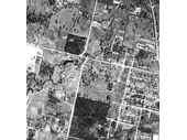 97 - An aerial photo above the junction of Hamilton and Webter Roads in 1949