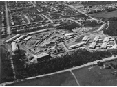 98 - Aerial view of Chermside (Now Prince Charles) Hospital in 1954
