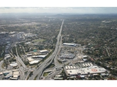 132 - An aerial view above Springwood as it looks today looking towards the City