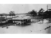 144 - Yatala Pie Shop during some local flooding around the 1930's