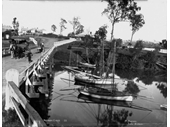 23 - Early photo of the bridge over Norman Creek on Wynnum Road