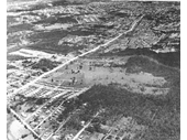 78 - An aerial view over Mount Gravatt in the 1940's