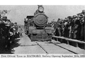 33 - The first train to Dayboro in 1920