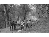 40 - Workers building a road to Mt Nebo in 1931