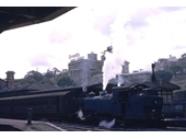 84 - Steam train during the 1950's at Central Station