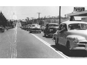 95 - Boxing Day traffic jam through Beenleigh in 1956 when the old Pacific Highway still went through Beenleigh
