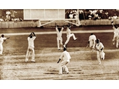 14 - The run out that ended the first Tied Test at the Gabba in 1960