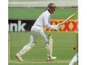 28 - Allan Border in a test match at the Gabba