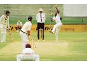29 - Malcom Marshall bowling against Australia at the Gabba