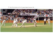 36 - Shane Warne bowling at the Gabba against England in 1994