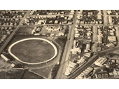 3 - The Gabba during the 1920's from the air showing the cycling track