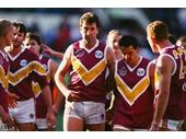59 - Roger Merrit leading the Brisbane Bears