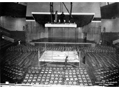 77 - Preparations for a boxing event at Festival Hall