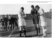 07 - Coin toss before the First Battle of Brisbane (v GB in 1932)