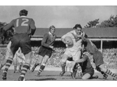 08 - Action during the 1950 test against Great Britain that Australia won 15-3