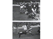 10 - Mick Crocker during the 1951 test v France