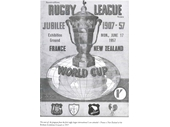 20 - World Cup 1957 program for Exhibition Ground test between France ad NZ