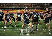 64 - The New Zealand team after winning the 2008 World Cup at Suncorp Stadium