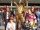71 - Chris, Helen, Nat, Myself & Tim with King Wally at Suncorp Stadium