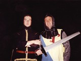 86 - Gary Michelson and I as knights at Jo's 21st birthday party