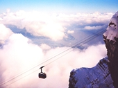 20 - The Cable Car going down Mt Pilatus