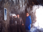 27 - Icicles in nearby cave atop Mt Pilatus