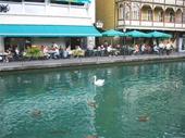 105 - Thun riverfront scene